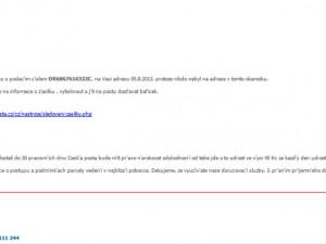 Pozor! Podvodné maily využívají jména České pošty