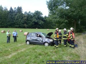 U dopravní nehody za Frýdlantem zasahoval vrtulník