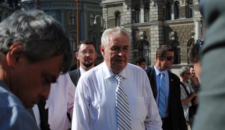 Prezident Miloš Zeman dnes otevře hospic na libereckém Perštýně