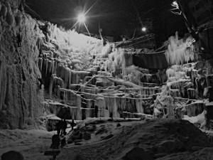 Ledová stěna v bývalém lomu Na Bídě se opět otevřela veřejnosti