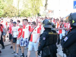 Na bouřlivé fanoušky Slavie si v Jablonci počíhá policie