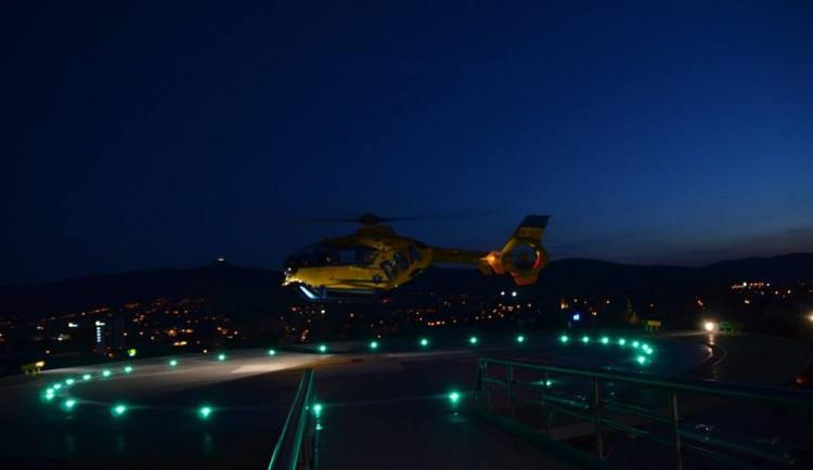 Vrtulníky budou v Liberci přistávat i v noci, kraj chystá úpravy