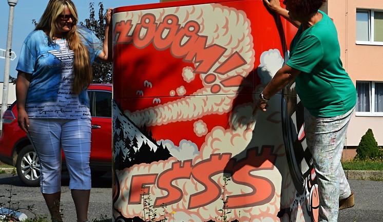 Liberec získal další umělecký originál. Graffiti kontejner poslouží dobré věci