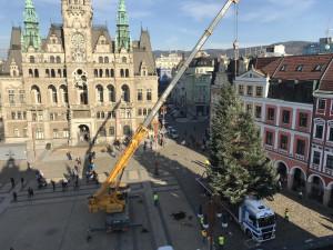 Z Pavlovic na Benešák. Náměstí už zdobí vánoční jedle, rozsvítí se v neděli