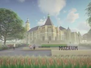 VIDEO: Nové okolí muzea. Prostor mají oživit venkovní výstavy, sezení i vodní prvek
