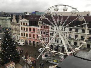 Liberecké adventní trhy měly letos rekordní návštěvnost. A zájem byl i o ruské kolo