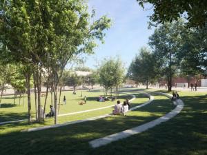 FOTO: Nová podoba Tržního náměstí. Silnice před bazénem bude jen pro autobusy