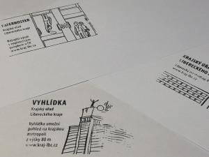 Liberecký mrakodrap se dostal na turistická razítka. Motiv vytvořil grafik Miroslav Heřmánek