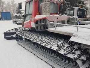 Do Jizerek vyjela v letošní zimě poprvé rolba