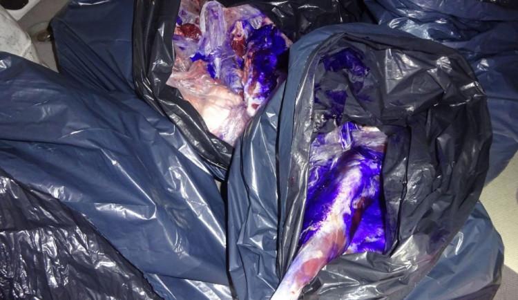 FOTO: Veterináři objevili na Liberecku sto kilo nelegálně převáženého masa