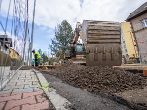 Rekonstrukce Liberecké v Hrádku pokračují. Pozor na změny v dopravním značení