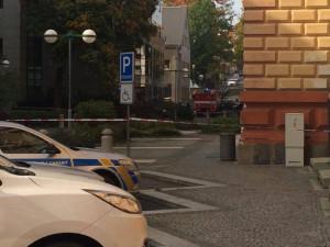 Anonym nahlásil bombu v budově libereckého soudu. Policie uzavřela okolí