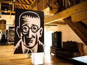 Výstavu originálních tisků Jaromíra 99 na téma Kafka najdete v Zámeckém pivovaru