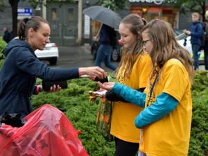 Dobrovolníci dnes prodávají kytičky pro Ligu proti rakovině. Peníze jdou pacientům i na výzkum
