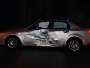 Ve smyku vylétl ze zatáčky, naboural dvě auta a způsobil škodu přes 113 tisíc korun