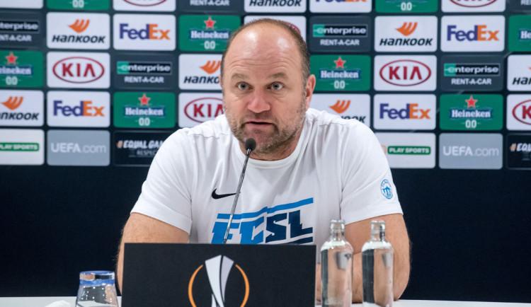 Chceme zůstat v tabulce před Gentem, říká trenér Slovanu Pavel Hoftych