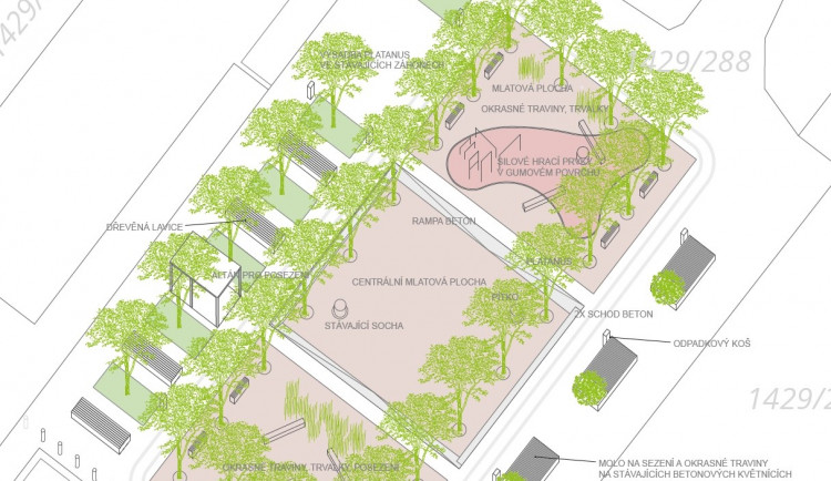 Změny na Broumáku. Chystá se rekonstrukce Korintu, místo betonového placu náměstí se stromy