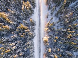 V zimě na silnicích – sněhová čepice