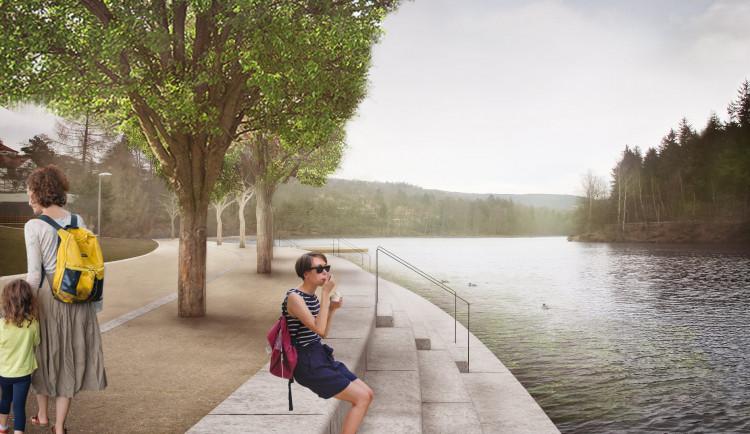 Jak bude vypadat liberecká přehrada? Náplavky, promenáda, místo zdi schodiště do vody