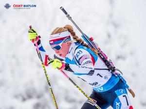 Zlato pro Markétu Davidovou. Biatlonistka z Janova ovládla vytrvalostní závod na světovém šampionátu