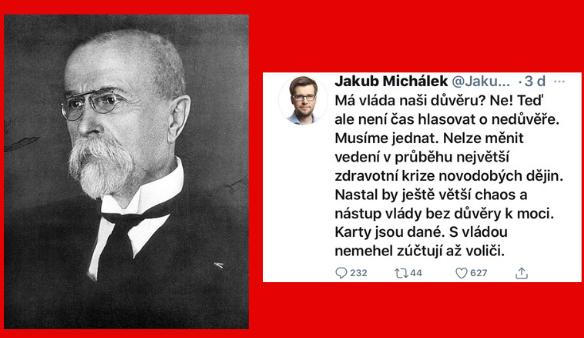 Tradiční T. G. Masaryk a fresh Piráti?