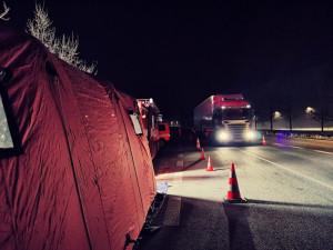 Testovací místo v Hrádku pro kamiony končí. Už není potřeba