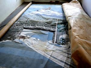 Objev na bývalé základce Na Žižkově. Archeologové objevili malovanou plachtu s Ještědem