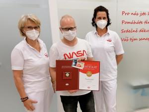 Liberecký rekordman chodí darovat krevní plazmu už dvanáct let. Beru to jako pomoc lidem, kteří ji potřebují každý den, říká Lukáš Pančík