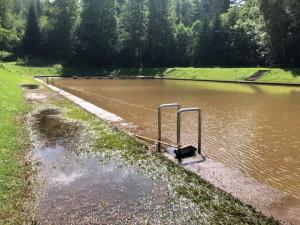 V Libereckém kraji se kvůli dešťům musela některá koupaliště vypustit a čistit