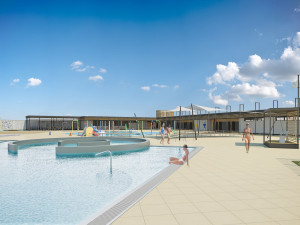Nové koupaliště v Dubici nabídne stání pro karavany i kurty na beach volejbal