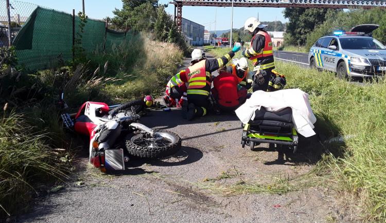 Při srážce s nákladním automobilem zemřel na Českolipsku motorkář