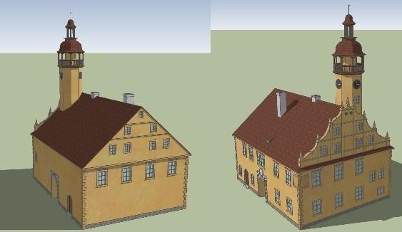 3D model historické zástavby města Liberec