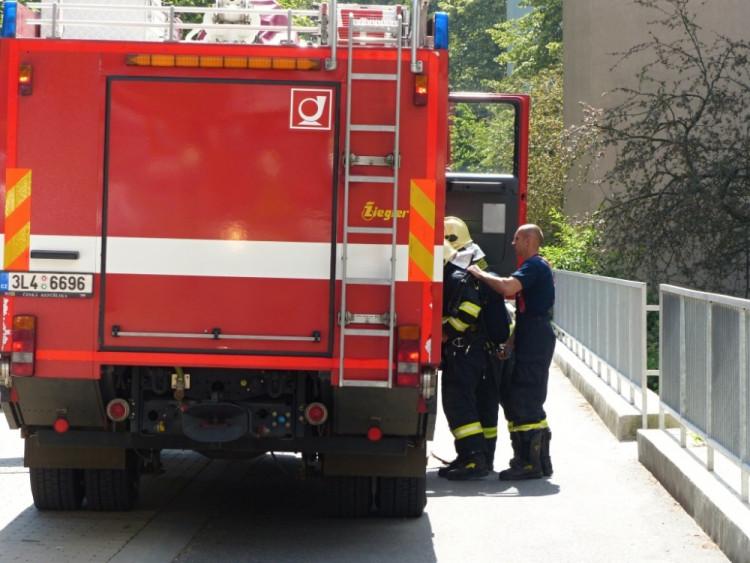 Ve Slovenského ulici hořel hrnec s jídlem