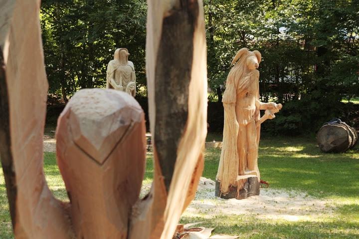9. ročník dřevosochání Etnořez 2013