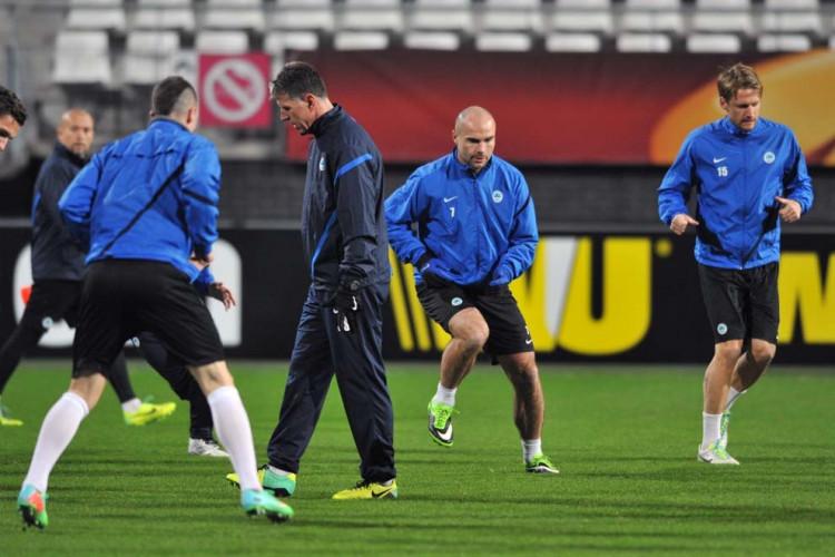 Středeční trénink a tiskovka před utkáním Slovanu v Alkmaaru
