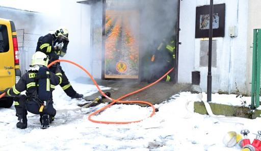 Požár ve Volgogradské ulici
