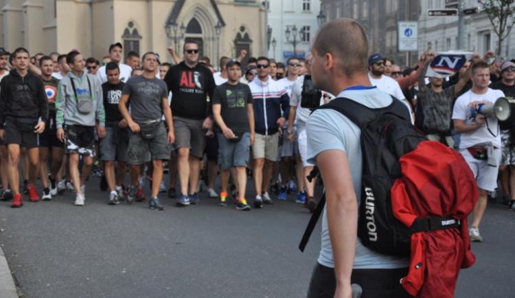 Pochod fanoušků Hajduku Split Libercem