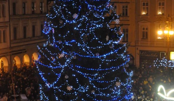 Rozsvícení vánočního stromku v Liberci
