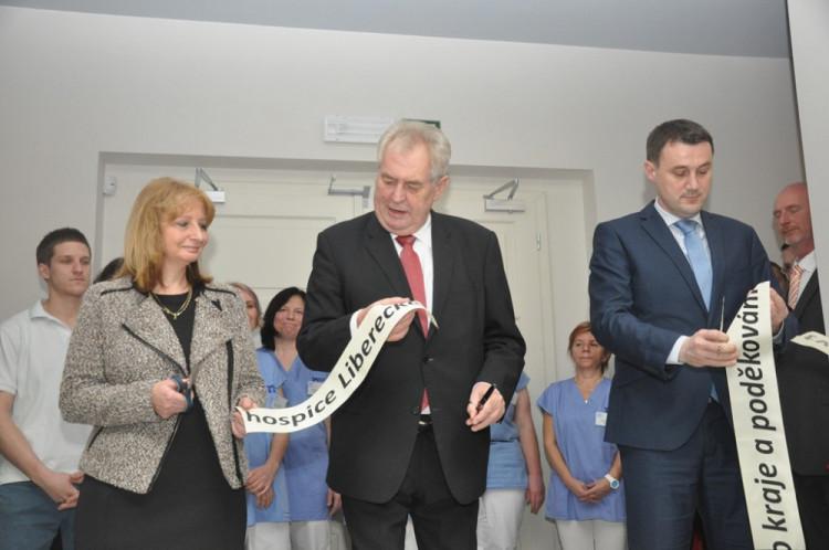 Slavnostní otevření hospice v Liberci