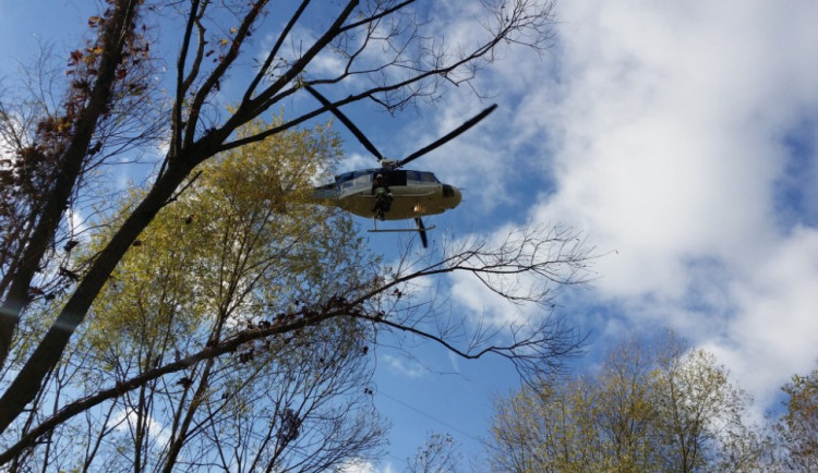 Cvičení vrtulníků na Liberecku