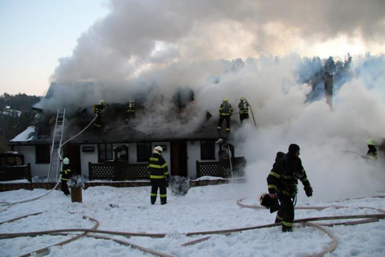 Požár penzionu Chlum