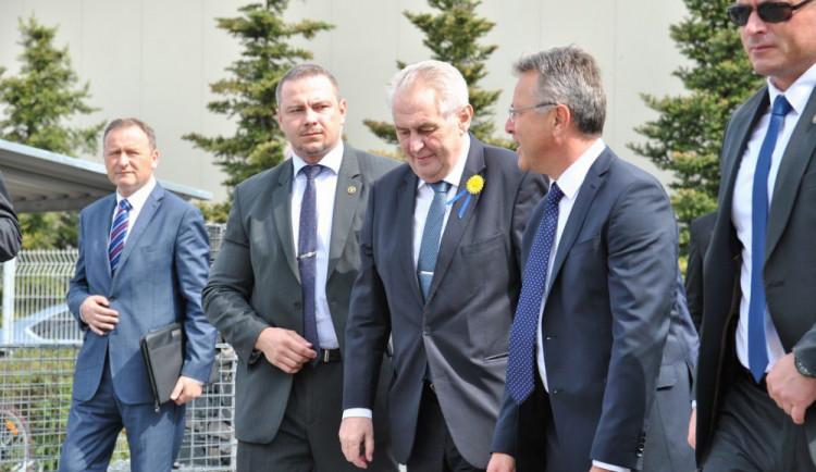 Druhý den návštěvy prezidenta Miloše Zemana v Libereckém kraji
