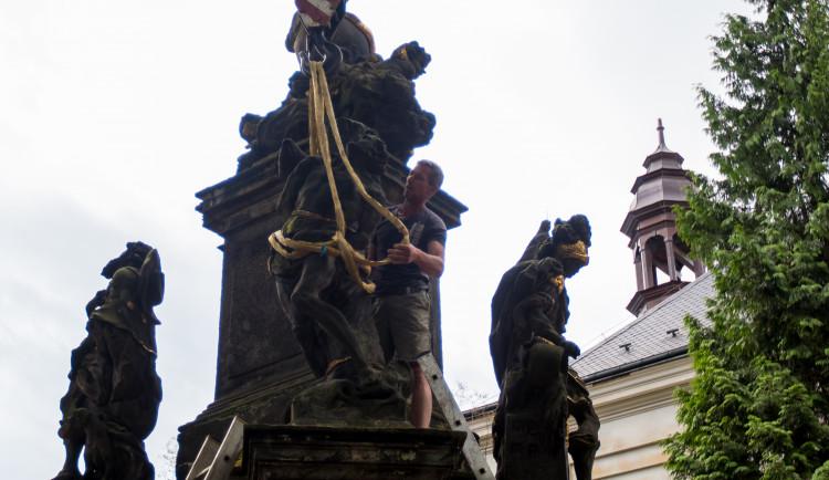 Restaurování barokního sloupu Liberec