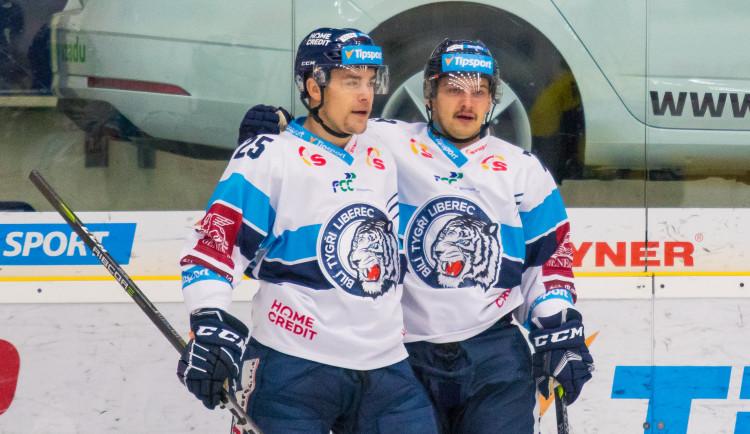 Zápas Bílých Tygrů Liberec proti PSG Berani Zlín