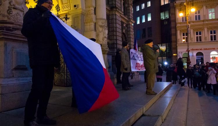 Pochod Libercem Za slušného premiéra