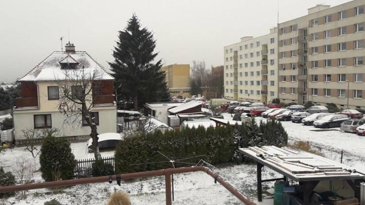 První prosinec přikryl sněhovou dečkou celý kraj - Hanychov