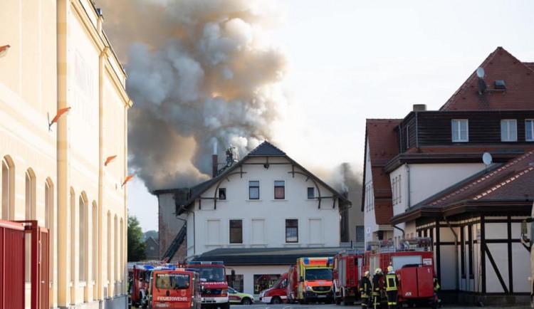 V Žitavě hořel dům