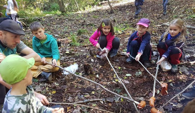 Skauti vyčistili les v Lidových sadech