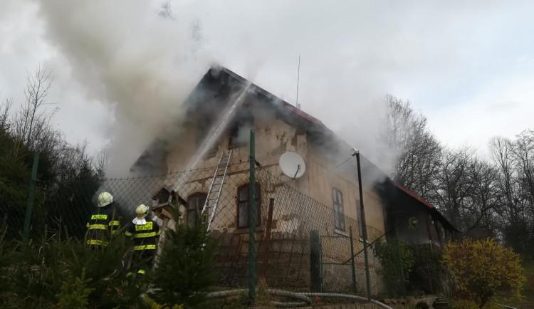 Požár domu v Držkově