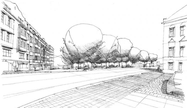 Návrhy na podobu Tržního náměstí